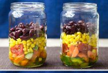 Salads in a jar