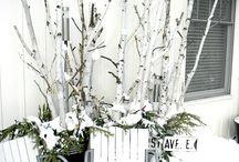 birch tree decorations