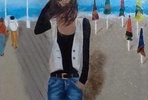 Sur les planches / Peinture acrylique