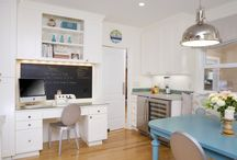 Homework nook in the kitchen / by Kelley Pattee