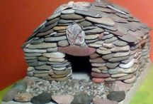 Mini  stone house  for elfs and fairyes