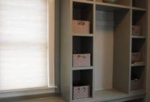 Organized Entryway / Organized entryway, organized mudroom, DIY mudroom, mudroom organizing