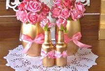 aniversário rosa dourado