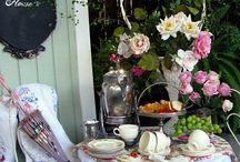 Festivities / Teatime decor ideas from simple to elaborate