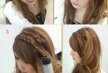 Hair down braid