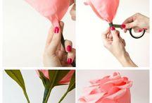 クレープペーパーのバラ