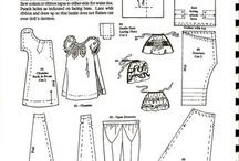 szabásminták / baba ruha szabásminták