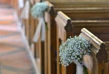 Vintage wedding church