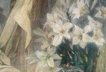 Mucha :Madonna liliommal