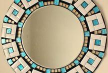 espejos en mosaicos