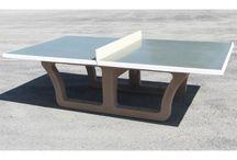 TABLES DE PING PONG BÉTON / Pour offrir un espace de jeu convivial et à toute épreuve.