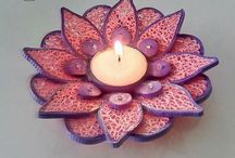 Candle holders quilled