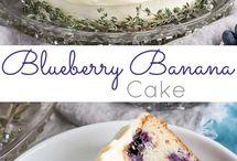 Blue Berry banana cake