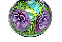 glass flower beads