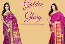 Golden Glory / Revive Weddings in Kanjivaram finish sarees. With ornate zari borders and with golden zari pallus, these art silk sarees are all set to bring out the best in you. Head straight to http://www.bluekurta.com/index.php?route=product/search&filter_name=WSA611021