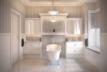 Hamptons Bathroom / Hamptons/Cape Cod/country style bathroom. Claw foot bath. Gold Coast. Design ideas.