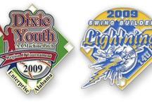 Baseball and Softball Trading Pins / Custom Trading Pins for Baseball and Softball. #www.signaturepins.com #signaturepins