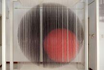 jesus soto / Jesús Rafael Soto was a Venezuelan op and kinetic artist, a sculptor and a painter.