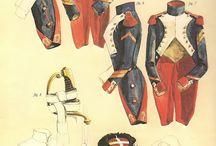 uniformes napoleonicos / varios uniformes del Imperio napoleonico