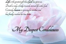 Deep condolencess
