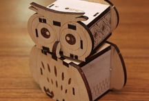 KOKOMU DIY Music Box / This is a Do-It-Yourself hand crank music box designed with interlocking structure. You can assemble it by yourself and paint it the way you like. It is great for kids to DIY.  http://www.kokomu.com