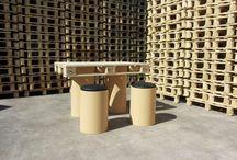 Tavolino fatto con bancale / Tavolino fatto con bancale e sedute
