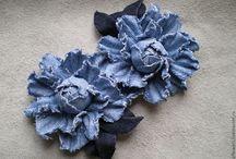 цветы из джинса