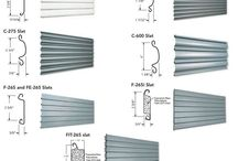 Non-Insulated & Insulated Metal Slat Overhead Coiling Door Slat Profiles / Insulated & Non-insulated slats have different profiles for rolling overhead coiling doors. Call us for installation, repair and service to your rolling steel doors in New Jersey and New York City.