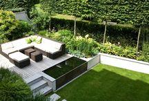 terrasses bois et pelouse