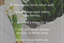 DECLUTTERING & ORGANISATION TIPS / DECLUTTERING & ORGANISATION TIPS