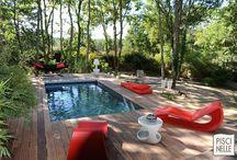 Reportage photo : une piscine dans les Landes / Découvrez cette splendide piscine réalisée par Piscinelle dans la ville de La Test-de-Buch en région Aquitaine.