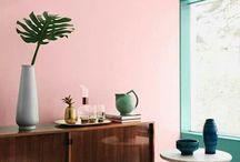 Farbige Wände
