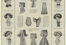 History of fashion in drawings / Style and fashion (male, female, children, jewelry, home decor, etc.) from different eras in drawings.