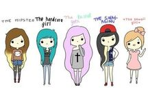 Girls cartoon