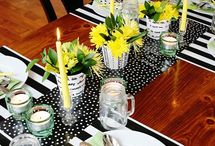 black & yellow decor