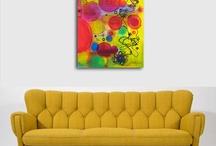 Art + sofa
