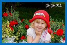 Kapelusze / Szydełkowe kapelusze z ręcznym haftem