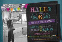 Reilly's 7th Gymnastics Bday Party ideas / by Dawn Fraga