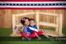 4th of July / Portraits taken at our studio and on-location in celebration of 4th of July.