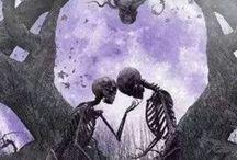 Eternal Love / skulls forever Agapé skeletons soul mates eternity together forever relationships love