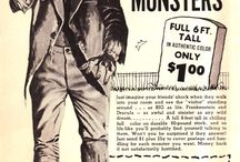 Monster Mail Order / Vintage Advertising from 1960s and 1970s comic books and monster magazines.