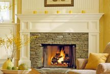 Cozy fireplaces / Snuggling up next to a crackling fire when it's cold out warms the bones and soul.