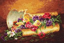 Motive florale / Modele de goblen