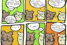 Muhvu's Comics / funny or depressing? (Dark) humour comics from Finland.   Search: comic comics cartoons funnies humor animal hamster cute original art