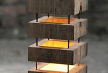 Деревянные лампы