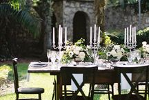 dining outdoors.