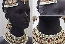 Dazzling Indian Bollywood Designer Kundan Bridal Jewelry