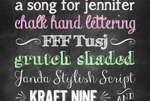 Fonts & Paper / by Jessica Mathews