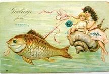 Vintage illustrations... Seaside