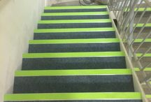 Stair Nosings Healthcare / We have responded to the demands of the Healthcare sector by creating products that reduce the risk of dirt traps forming.   Equality Act compliance is addressed by a range of stair nosings which guarantee more clearly defined step edges and a clearly defined colour contrast on both the tread and the riser.
